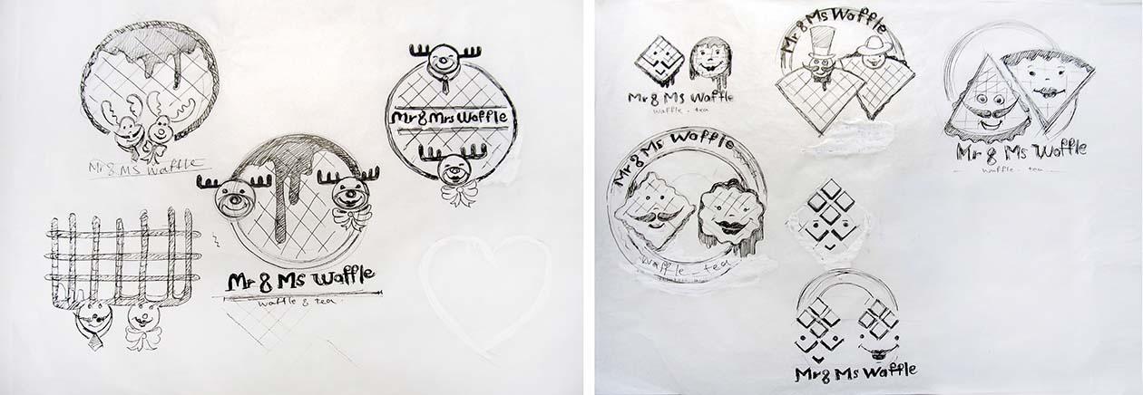 اتودهای اولیه لوگو - شرکت خانم و آقای وافل