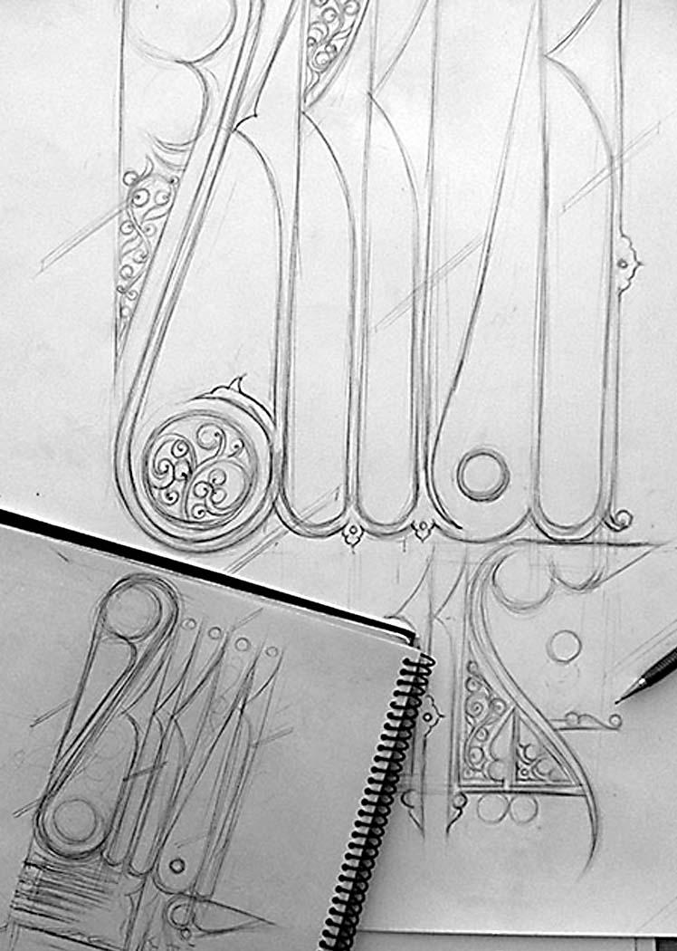 نمایشگاه نقش خیال - اسکیس مدادی