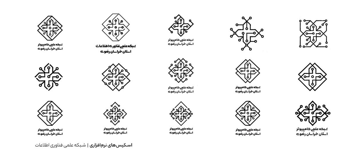 روند طراحی لوگو -شبکه علمی فناوری اطلاعات
