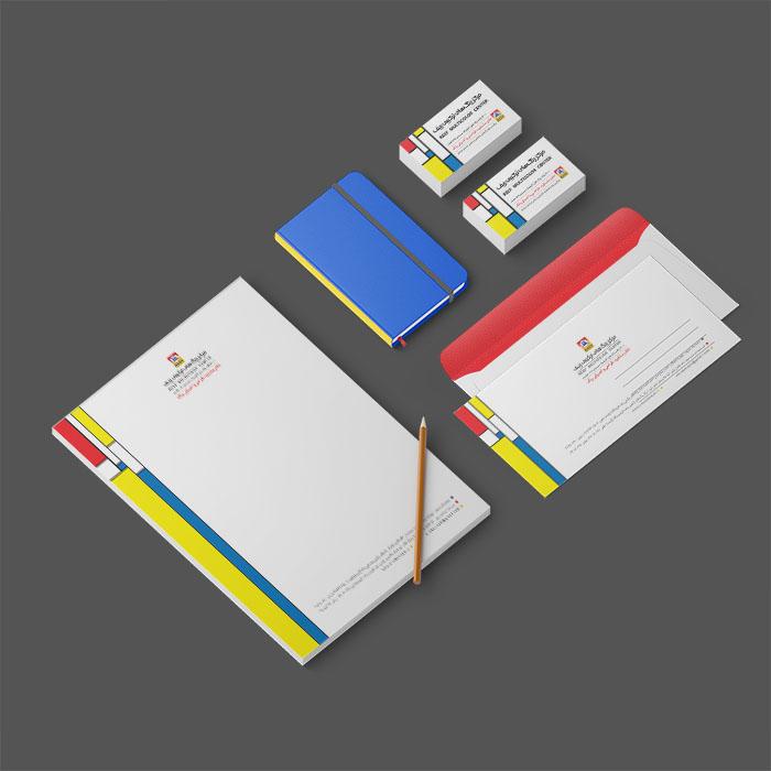 طراحی اوراق اداری فروشگاه رنگ ارکید تاجیک