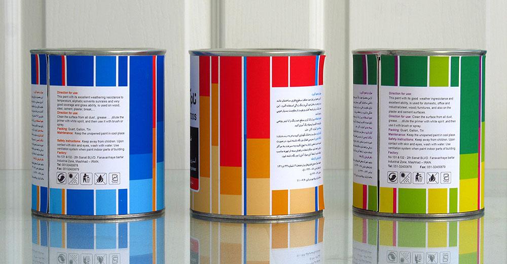 طراحی قوطی رنگ-شرکت رنگسازی نام آوران توس- مشهد