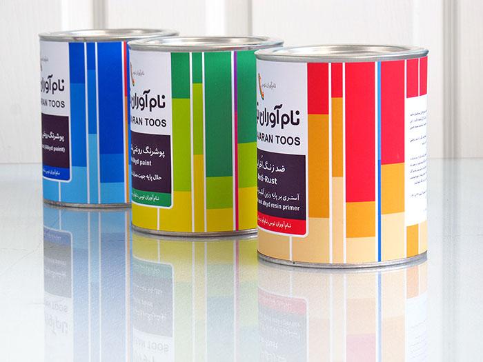 طراحی قوطی رنگ نامآوران توس