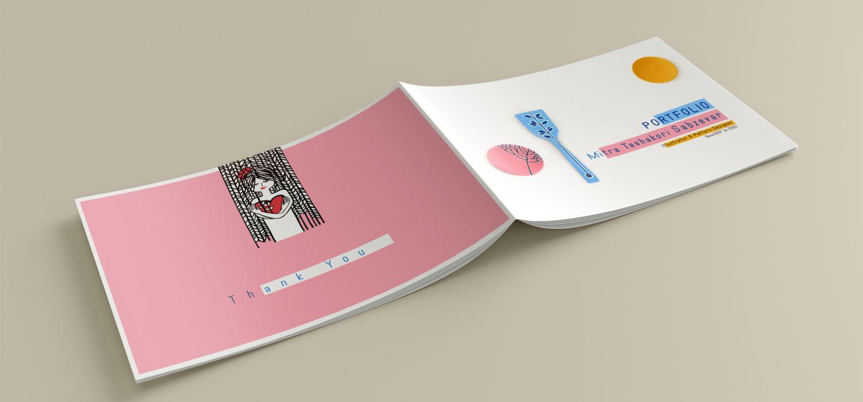 طراحی روی جلد پورتفولیو آثار میترا تشکری سبزوار