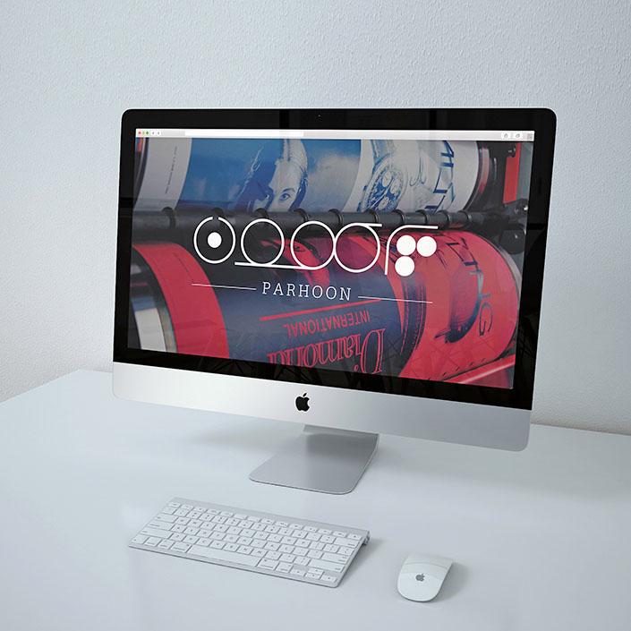 پرهون- ماکاپ طراحی لوگو