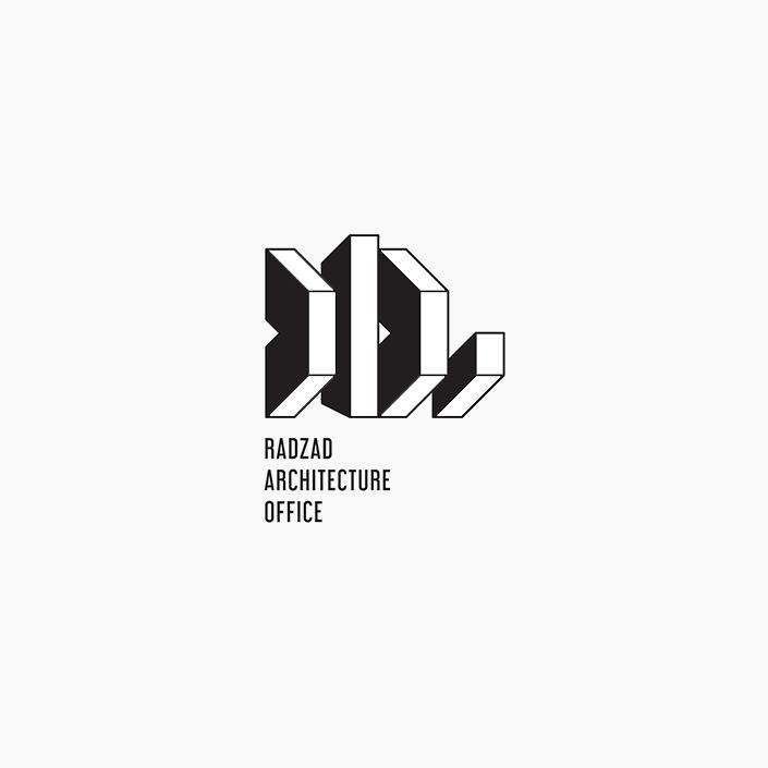 دفتر معماری رداد - طراحی نشانه پیشنهادی - نسخه سیاه و سفید