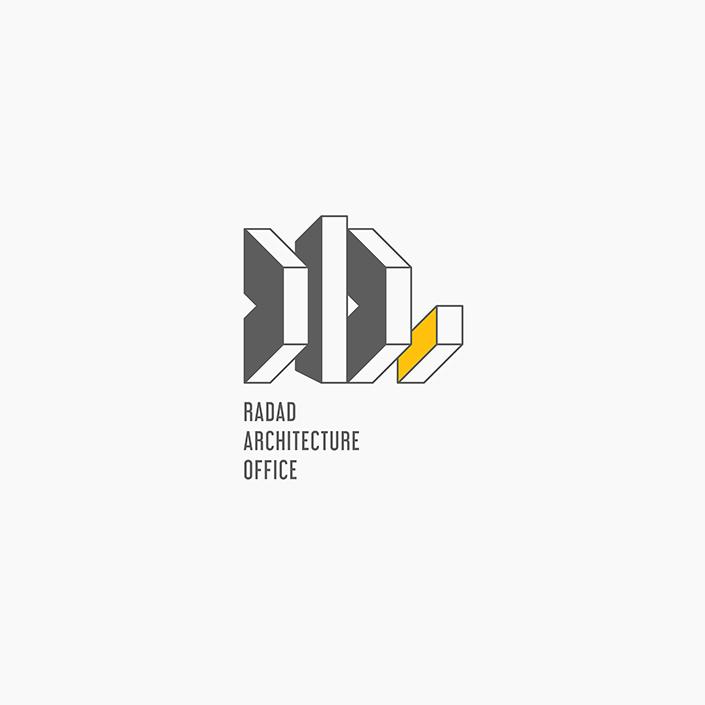 دفتر معماری رداد - نشانه پیشنهادی - نسخه کامل لوگو