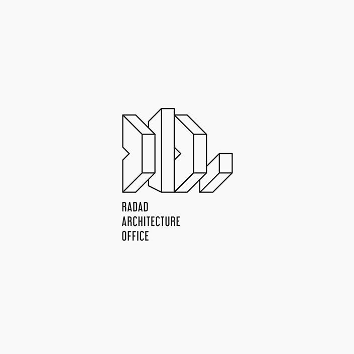 گروه معماری رداد - نشانه پیشنهادی - نسخه مونولاین