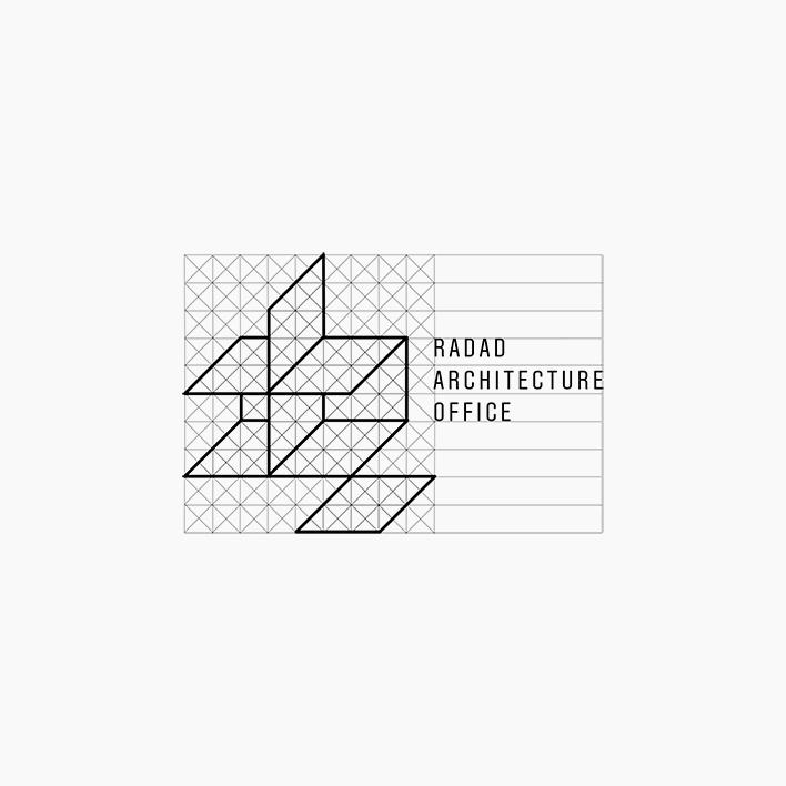دفتر معماری رداد - طراحی نشانه پیشنهادی - ساختار و تناسبات لوگو