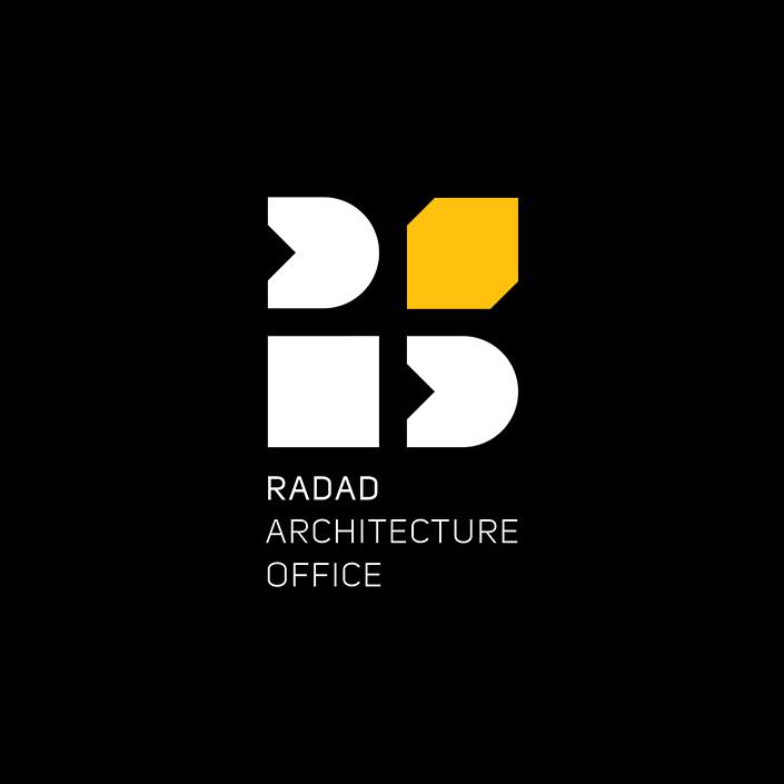 دفتر معماری رداد - طراحی لوگو - نسخه نگاتیو